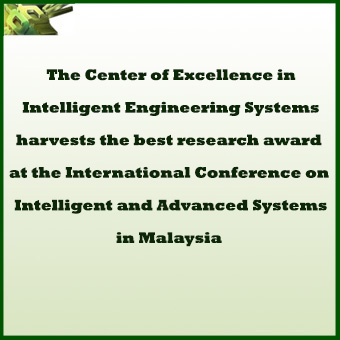 KAU Center of Excellence in Intelligent Engineering Systems (CEIES) was awarded the best research prize at the International