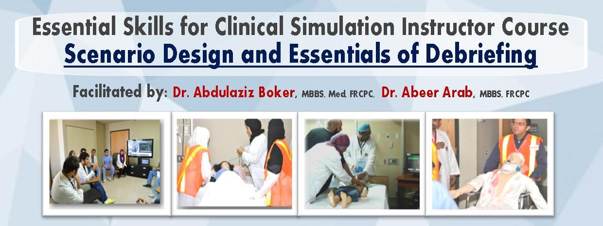 Clinical Skills Center Announcement for course under the title of